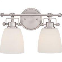 Bower Vanity Light in Brushed Nickel