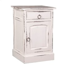 CC-CHE551LD-WW  Cottage Whitewashed Nightstand