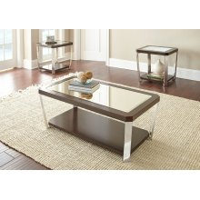 "Truman End Table 22'x 24""x 24""[stainless steel]"