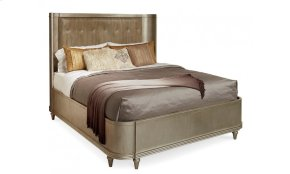 Morrissey King Lloyd Upholstered Shelter Bed
