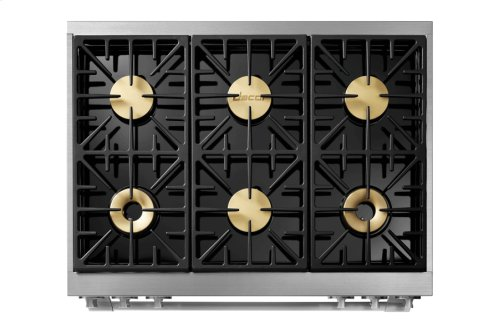 "36"" Heritage Gas Pro Range, Silver Stainless Steel, Natural Gas/High Alttitude"
