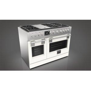 "Fulgor Milano48"" Dual Fuel Pro Range - Matte White"