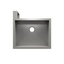 "SocialCorner 005300 - undermount with apron front stainless steel Kitchen sink , 23"" × 18"" × 10"" Left corner"