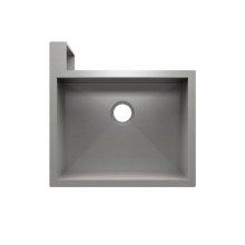 "SocialCorner 005300 - undermount with apron front stainless steel Kitchen sink , 23"" × 18"" × 10"" Left corner"