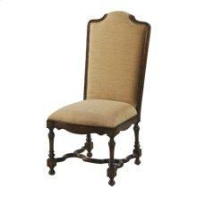 Cordoba Finished Side Chair, Posh Latte Fabric Upholstery