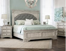 "Highland Park Queen Headboard, Cathedral White, 64""H"