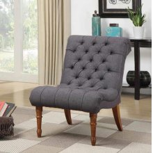Casual Charcoal Grey Accent Chair