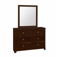 Ashton Transitional Cappuccino Mirror