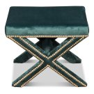 The Garbo Ottoman, Green Velvet Product Image