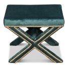 The Garbo Ottoman, Green Velvet Product Image