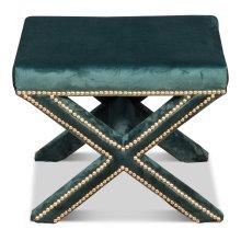 The Garbo Ottoman, Green Velvet