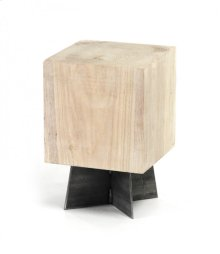 Bleached Solid Oak Stool