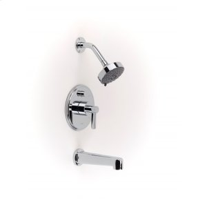Darby Pressure-balance Tub and Shower Set Trim - Polished Chrome