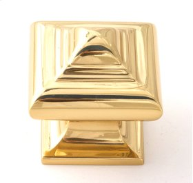 Geometric Knob A1520 - Polished Brass
