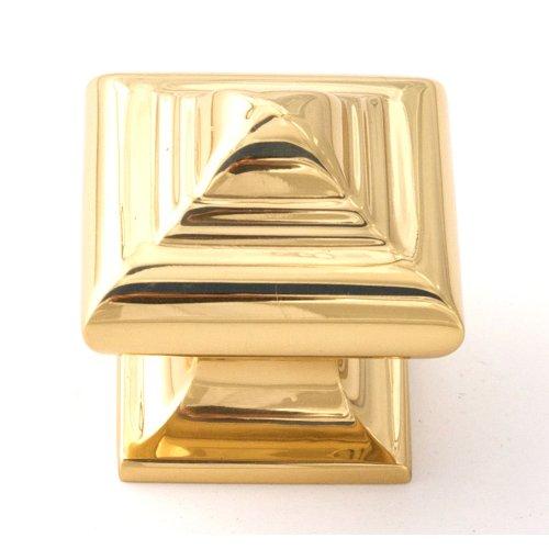 Geometric Knob A1520 - Polished Brass