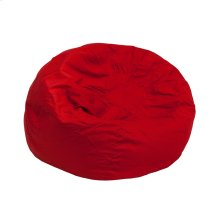 Small Solid Red Kids Bean Bag Chair