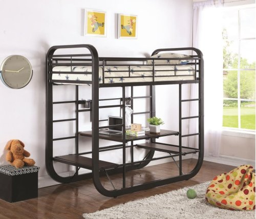 Twin / Twin Workstation Bunk Bed