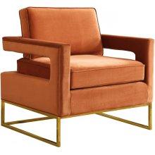 """Noah Velvet Accent Chair - 33.5"""" W x 29.5"""" D x 35.5"""" H"""