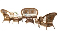 Coral Bay 6 PC Seating Set w/beige cushions Product Image