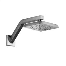 """Wall-mounted pivotable shower head with arm 1/2"""" connections Projection from wall 3-15/16"""" Max flow rate 2"""