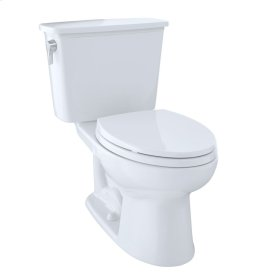 Eco Drake® Transitional Two-Piece Toilet, 1.28 GPF, Elongated Bowl, CeFiONtect - Cotton