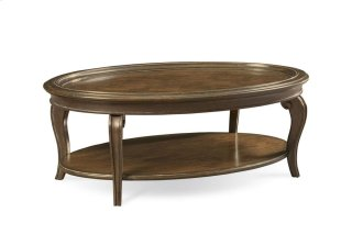 Continental Oval Cocktail Table - Weathered Nutmeg