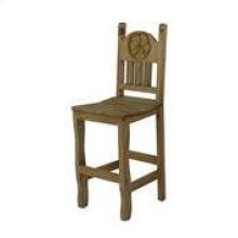 """24"""" Barstool W/Wood Seat and Star"""