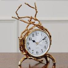 Twig Clock-Brass