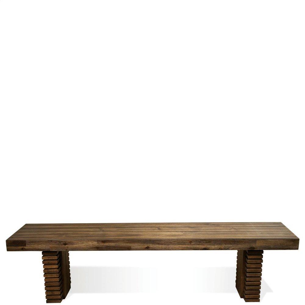 Modern Gatherings - Bench Base - Brushed Acacia Finish