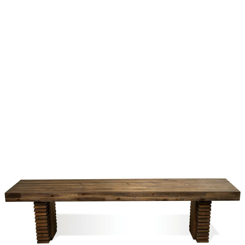 Modern Gatherings - Bench Base - Brushed Acacia Finish