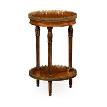 Napoleon III Style Lamp Table with Fine Brass Gallery