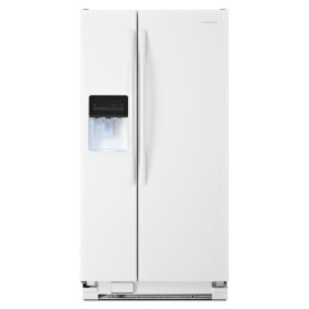 Amana® 32-inch Wide Side-by-Side Refrigerator with Adjustable Door Bins -- 21 cu. ft. Capacity - White