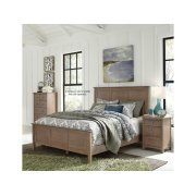 Queen Panel Bed in Taupe Gray Product Image