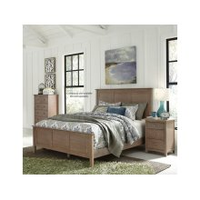 Queen Panel Bed in Taupe Gray