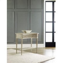 Ribbed Bedside Table, Painted Antique Grey