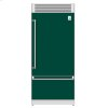 "Hestan 36"" Pro Style Bottom Mount, Top Compressor Refrigerator - Krp Series - Grove"
