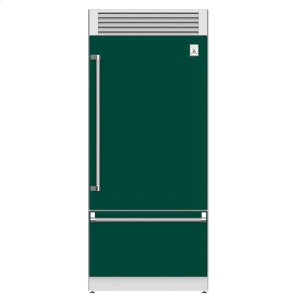 "Hestan36"" Pro Style Bottom Mount, Top Compressor Refrigerator - KRP Series - Grove"