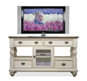Coventry Tall TV Console Weathered Driftwood/Dover White finish