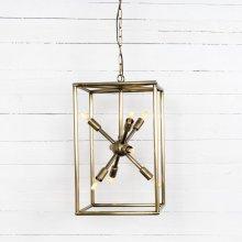 Antique Brass Finish Jaxon Tall Chandelier