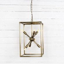 Antique Brass Finish Jaxon Tall Chandelier