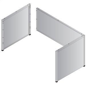 """Metal Desk Base - 66""""/68"""" Single Pedestal"""