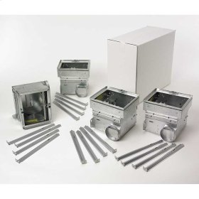 J-Can Housing W/Radiation Damper,includes hanger bars. To be used with Models 110RDF, 80RDF and HD50RDF finish packs