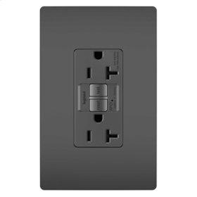 Tamper-Resistant 20A Outlet Branch Circuit AFCI Receptacle, Black