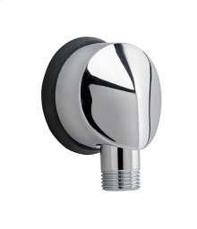 Round Wall Elbow for Hand Showers - Polished Chrome