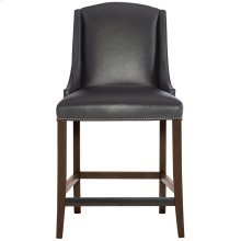 Slope Leather Bar Stool in Cocoa