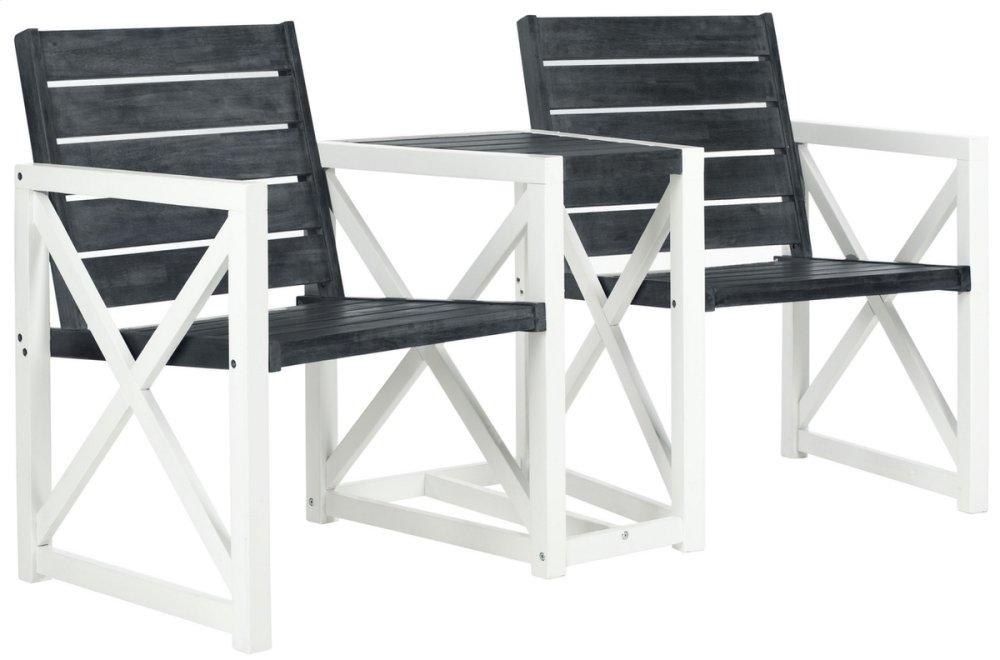 Jovanna 2 Seat Bench - Dark Slate Grey
