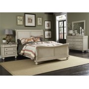 King Sleigh Bed, Dresser & Mirror, NS Product Image