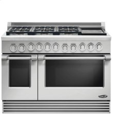 "48"" Professional, 6 Burner Dual Fuel Range W/griddle"