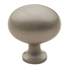 Satin Nickel Oval Knob