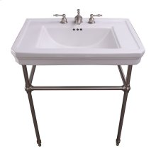 """Drew 30"""" Console with Brass Stand - 8"""" Widespread / Brushed Nickel"""